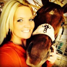 My horse, Cherry Bomb, and I