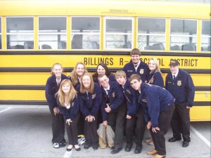Many memories are made in FFA. Photo Courtesy of Stephanie Bos, Billings FFA Chapter- Missouri
