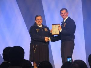 American FFA Degree Ceremony. Congrats Erin!  Photo Courtesy of- Erin Mullins, West Nodaway FFA Chapter- Missouri