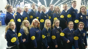 FFA members serve on Courtesy Corps at Convention.  Photo Courtesy of- Kristy Sivils, Pierce City FFA Chapter- Missouri