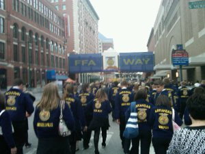 """Sea of Blue Jackets"" Indianapolis, Indiana  2009 National FFA Convention"