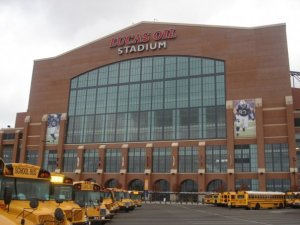 Lucas Oil Stadium, Home of the Indianapolis Colts and the American FFA Degree Ceremony when National FFA Convention is held in Indianapolis.