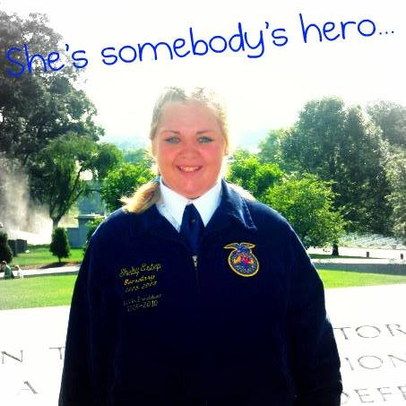 Shelby Lea Estep. Wonderful young lady who loved FFA. She is greatly missed by many <3  Photo Courtesy of- Shawna Estep, Marionville, Mo.