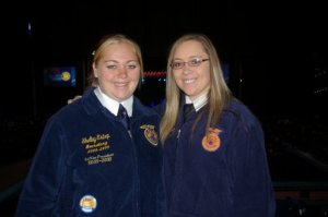 Cheyenne Estep with her sister Shelby at the 2009 National FFA Convention.  Photo Courtesy of- Cheyenne Estep, Marionville FFA Chapter- Missouri