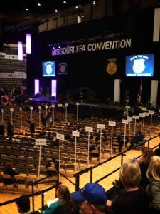 Missouri FFA Convention 2013 Photo Courtesy of- Stephanie Bos, Billings FFA Chapter- Missouri
