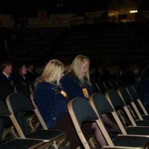 Best friends enjoying convention!  Photo Courtesy of- Anna Brown, Marionville FFA Chapter- Missouri