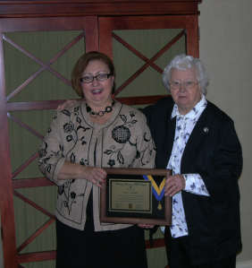 Honorary FFA Degree is awarded to Joyce Cutright.  Photo Courtesy of- Joyce Cutright, Director of Missouri FFA Convention Media Room and Per Course Agricultural Communications Instructor at Missouri State University